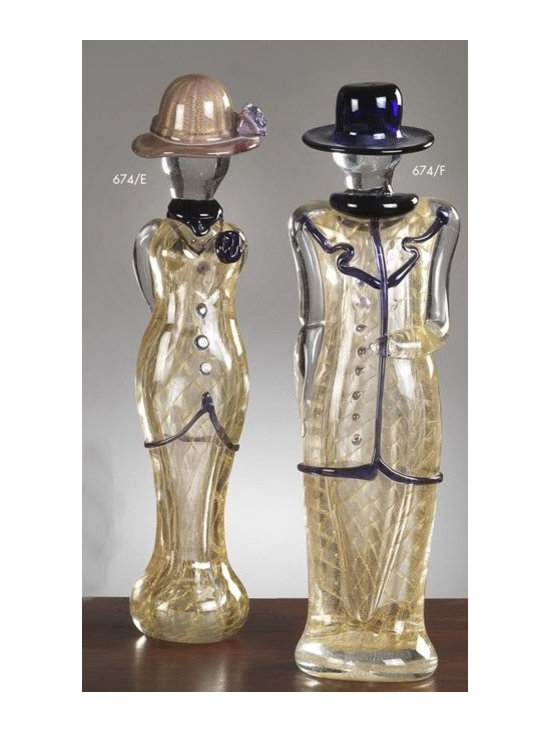 Murano Glass Sculptures and Figurines - Murano Glass 1920s figurines - COA and made to order.  More available so please contact us