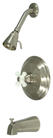 Single Handle Tub & Shower Faucet modern-bathroom-faucets-and-showerheads