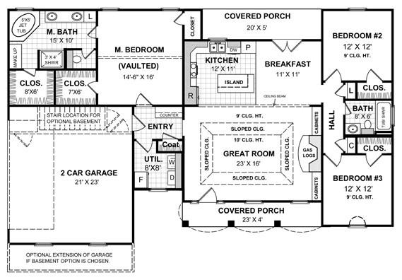 Jackson House Plans Craftsman Floor Plan Jackson