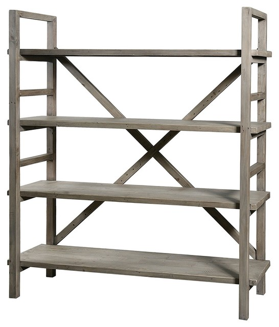 Farmhouse Baker Rack Bookshelf - Eclectic - Buffets And Sideboards - new york - by Zin Home