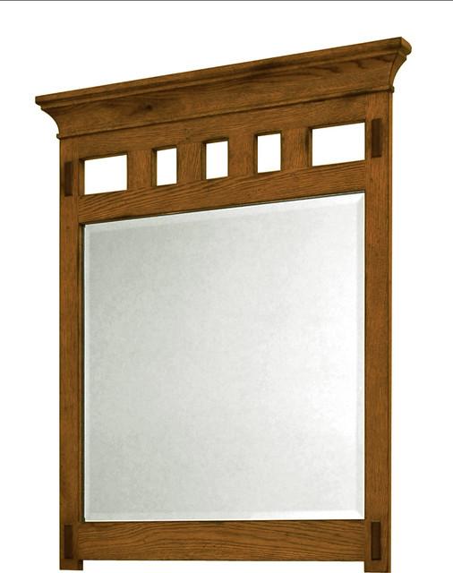 American craftsman mirror rustic oak craftsman for Craftsman mirrors bathroom