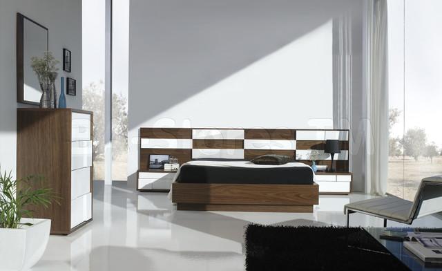 Bel 2 3 Walnut White Bedroom Set Modern Bedroom Furniture Sets New York