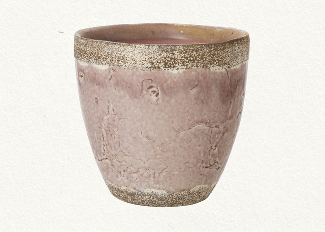 eclectic outdoor planters Purple Glaze Pot