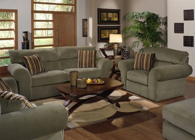 jackson furniture mesa 3 piece living room set in sage