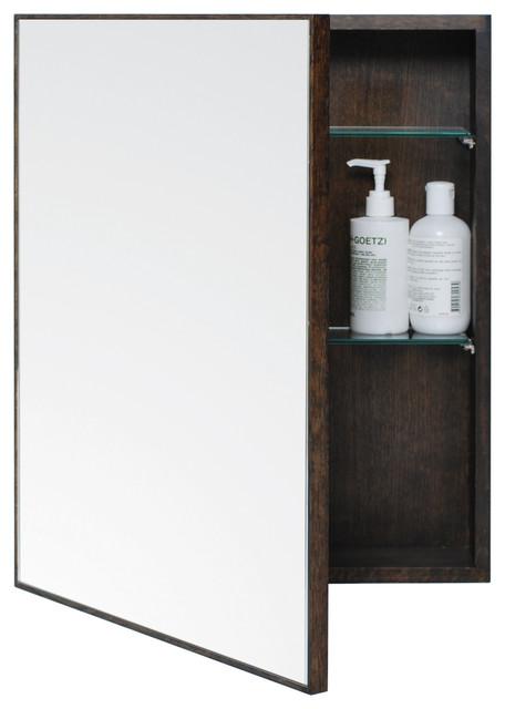 Wireworks Dark Oak Slimline Cabinet 550 - Modern - Medicine Cabinets - by Heal's