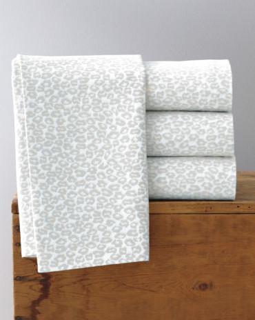 Garnet Hill Signature Leopard Flannel Bedding modern-sheets