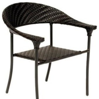 Woodard Barlow Dining Arm Chair traditional-outdoor-lounge-chairs