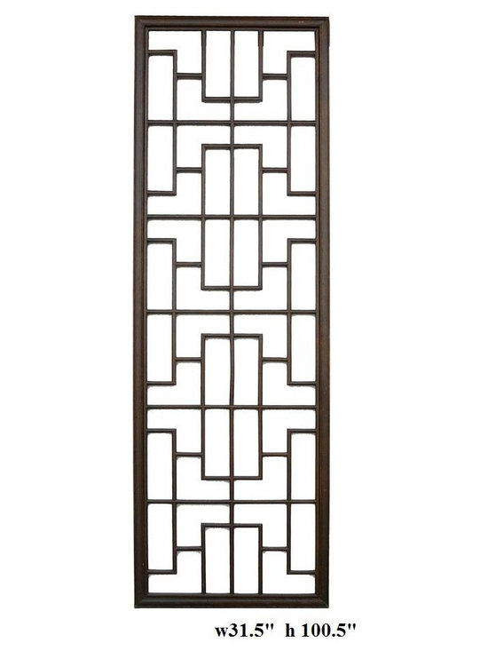 Long Geometric Rectangular Wood Panel -
