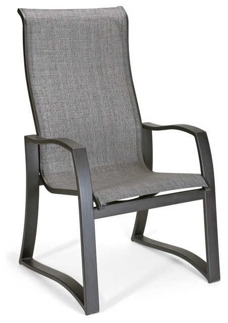 Telescope Casual Momentum Sling Supreme Aluminum Dining Chair modern-outdoor-lounge-chairs