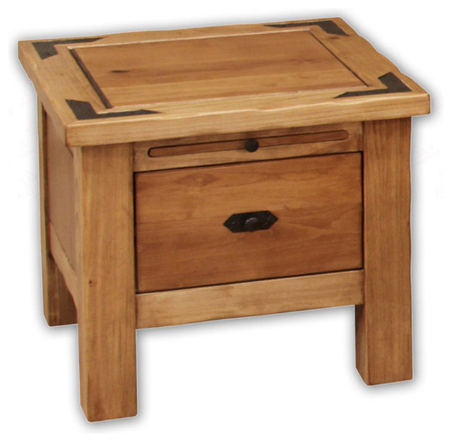 Lodge cottonwood & alder trunk end table rustic-dining-tables