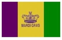 NEOPlex Mardi Gras Historical Flag traditional-flags-and-flagpoles