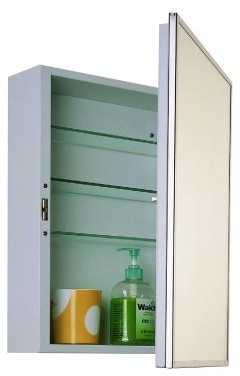 Ketcham 16W x 22H in. Accessible Surface Mount Medicine Cabinet modern-medicine-cabinets