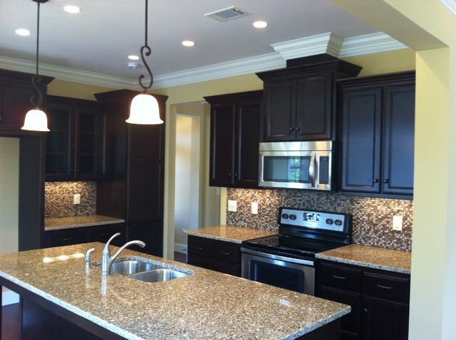 Ebony Stain on Maple - Traditional - Kitchen Cabinetry - birmingham - by Teeter Cabinets
