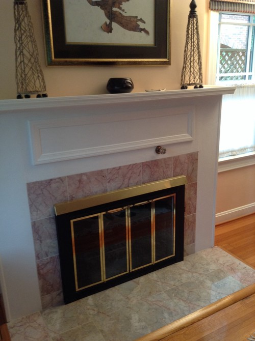 Can you paint the tile around a fireplace