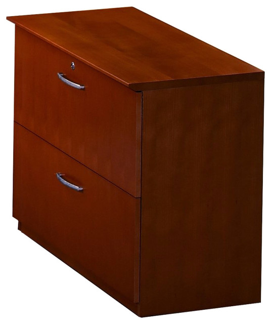 Mayline Napoli 2 Drawer Lateral Wood File Cabinet in Sierra Cherry - Transitional - Filing ...
