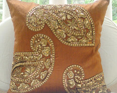 Decorative Throw Pillow Covers 16x16 Burnt by TheHomeCentric