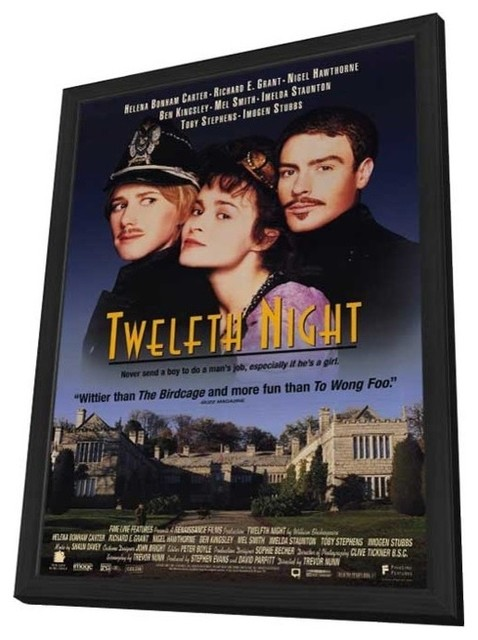 Twelfth Night 11 x 17 Movie Poster - Style A - in Deluxe Wood Frame prints-and-posters