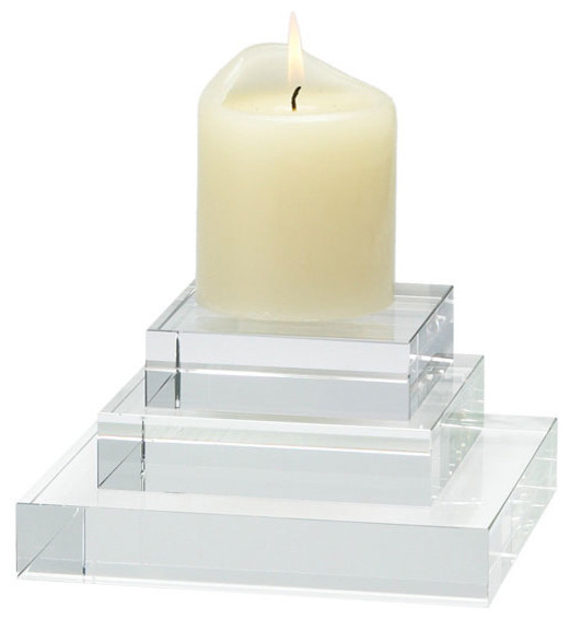 Glass Risers - Small traditional-candleholders