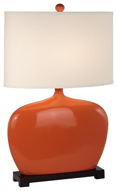 Contemporary Kathy Ireland Pop Studio Pumpkin Table Lamp contemporary-table-lamps