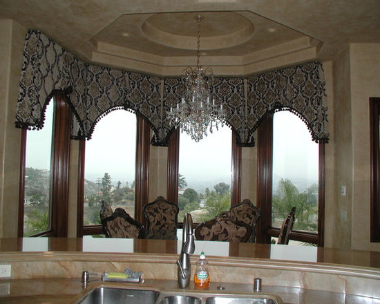 Cornice boxes - Valances  shaped to curvature of windows
