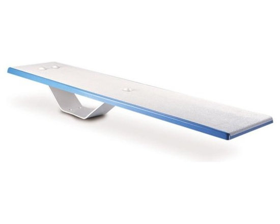 Inter-Fab 6' Duro-Spring White Diving Board - -Power Coated Steel Base