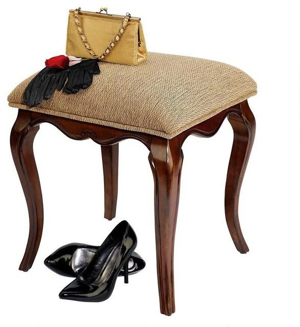 Elegant lady guinevere vanity stool traditional bar stools and counter stools by - Elegant vanity stools ...