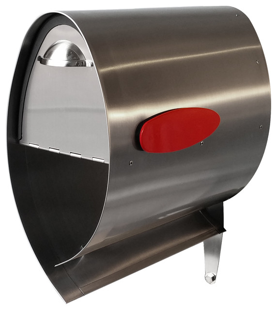 Spira PostBox Stainless Steel Mailbox, Stainless Steel, 7.25 X 15 X 15.5 - Contemporary ...