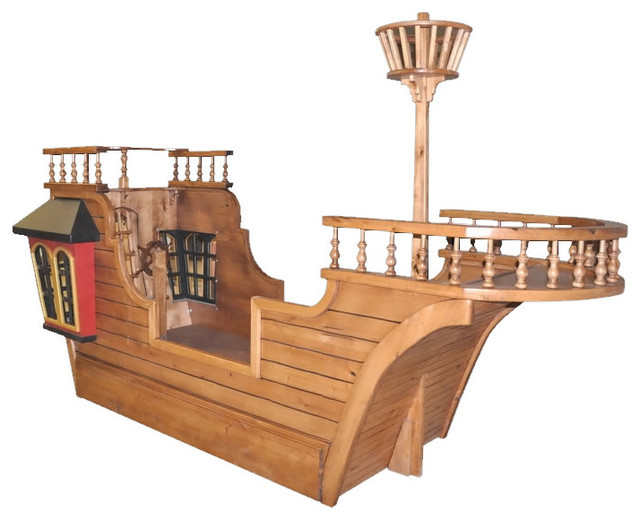Pirate Ship Theme Beds Traditional Kids houston by