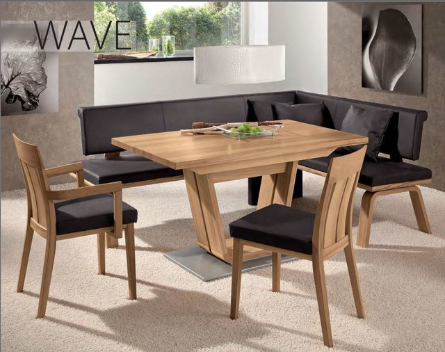 Wave Corner Bench Woessner Modern Dining Benches Miami By The Collection German Furniture
