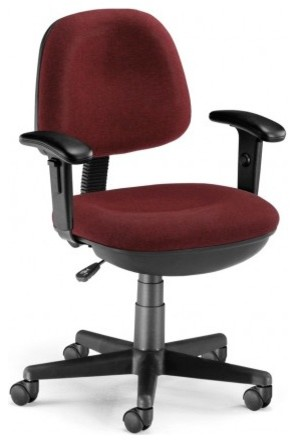 OFM Burgundy Lite Use Computer Task Chair with Arms and Drafting Kit office-chairs