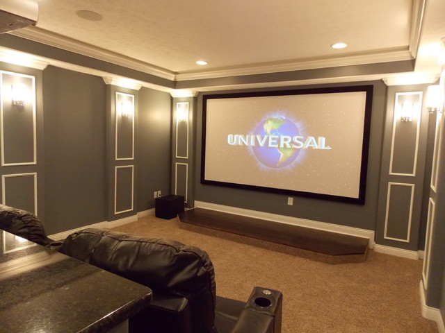 Basement Entertaining Spaces traditional-home-theater