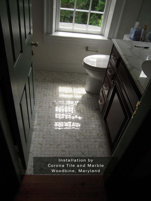 large or small tiles for bathroom floors