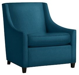Sweep Upholstered Armchair contemporary armchairs