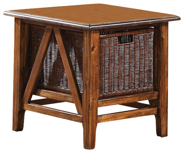 Riverside Furniture Claremont Rectangular End Table in Toffee transitional-side-tables-and-end-tables