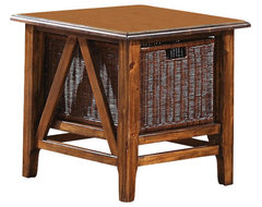 Riverside Furniture Claremont Rectangular End Table in Toffee transitional-side-tables-and-accent-tables