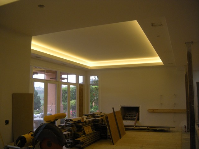 Rancho Santa Fe Home Remodel With Coved Ceiling LED Lighting Traditional