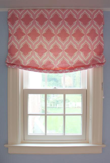 Custom Window Treatments by Lynn Chalk modern-roman-shades