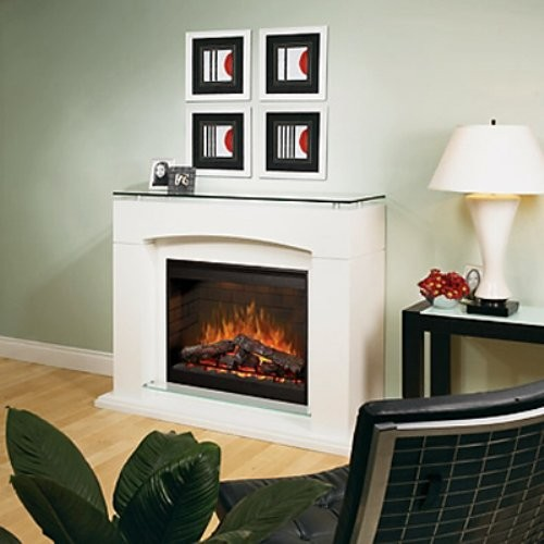 dimplex laguna white electric fireplace contemporary