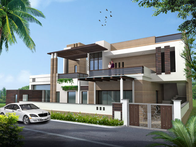 House designs indian homes modern other metro by - Small home outside design ...