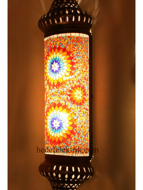 Orange Half Turkish Style Mosaic Lighting Wall Sconce - Code: HD-20003_19