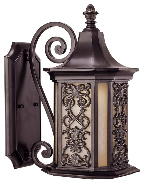 Forsyth Wall Mount Lantern - Traditional - Outdoor Wall Lights And Sconces - by Fratantoni ...