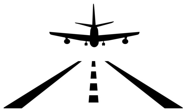 Plane Landing Wall Decal Modern Kids Wall Decor By