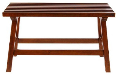 Slat Bench, Teak contemporary-shower-benches-and-seats
