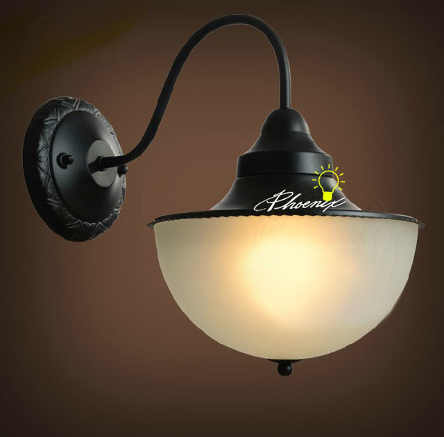 Antique Glass and Iron Art Wall Sconce in Matte finish - Contemporary - Wall Sconces - new york ...