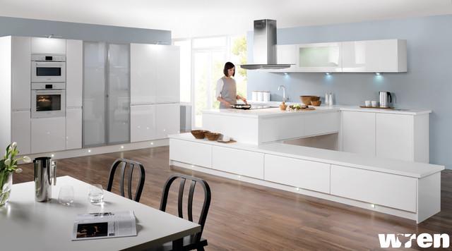 Handleless White Gloss modern-kitchen