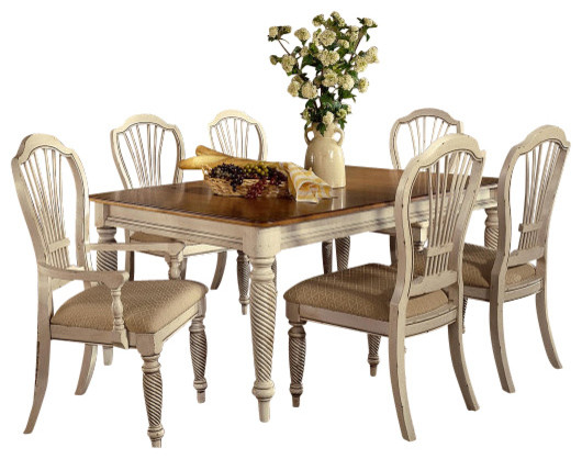 Hillsdale Wilshire 7 Piece Rectangle Dining Room Set in
