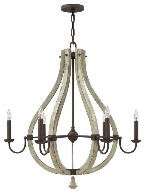 Distressed Wood Carved Rustic Chandelier Chandeliers By Shades Of Light