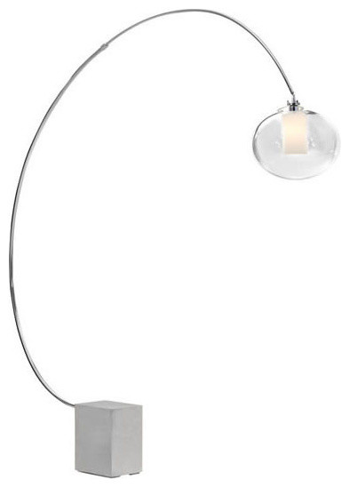 Plasma Floor Lamp Chrome Contemporary Floor Lamps By