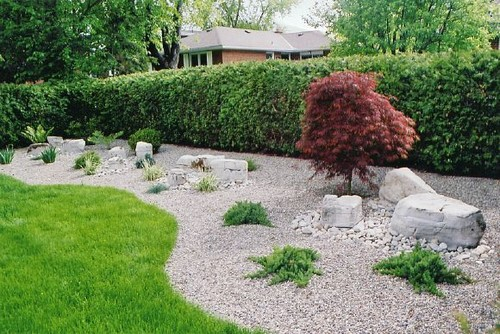 Does anyone know how the edging was done between grass and for Asian garden ideas designs