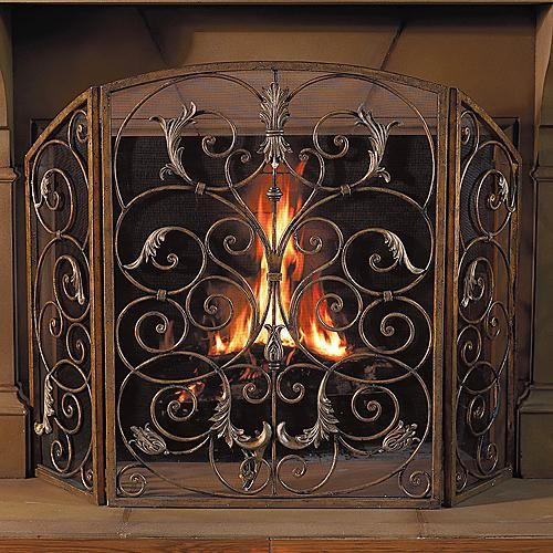 orleans fireplace screen frontgate traditional fireplace accessories by frontgate